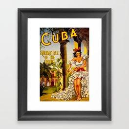 Cuba Holiday Isle of the Tropics Framed Art Print
