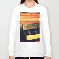record Long Sleeve T-shirts featuring record player by gzm_guvenc