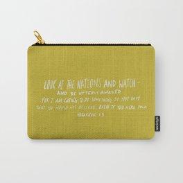 Habakkuk 1:5 x Mustard Carry-All Pouch