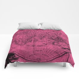 World (1811) Pink & Black Comforters