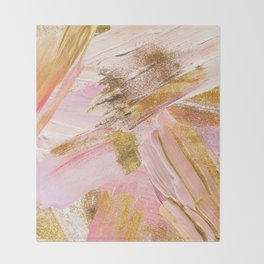 Blush Glitz Throw Blanket