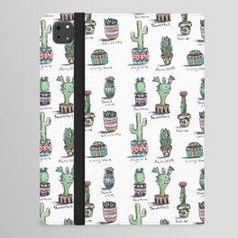 Cactus and Succulent Pattern iPad Folio Case