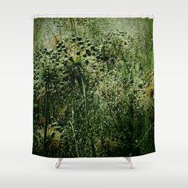 Rainy Green Garden Shower Curtain