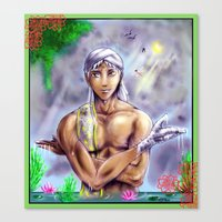 kuroshitsuji Canvas Prints featuring Agni San by Furiarossa