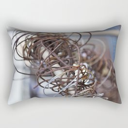 Abstract Wire Rectangular Pillow