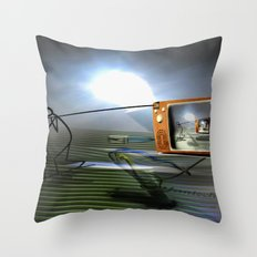 Cable TV Throw Pillow