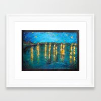starry night Framed Art Prints featuring Starry by Alice Tang