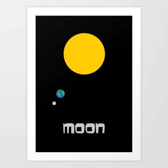 The Moon in Minimal Art Print