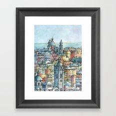 Perspective of Genoa, Italy Framed Art Print