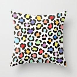 Trendy Multicolor Leopard Fur Effect Pattern Throw Pillow