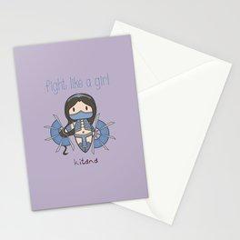 Fight Like a Girl - Mortal Kombat's Kitana Stationery Cards