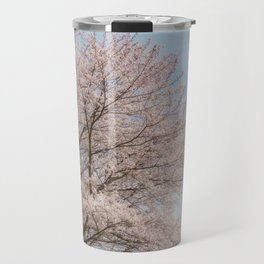 cherry blossom and blue sky Travel Mug