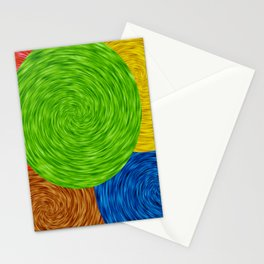 Twirling Colors Stationery Cards