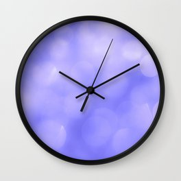 Violet light reflections Wall Clock
