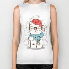 Hipster Kitty Biker Tank