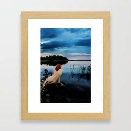 Ania at the Lake Framed Art Print