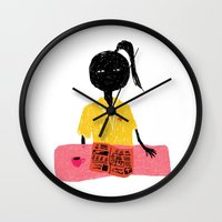 nurse Wall Clocks featuring NURSE by Camilla Voutilainen Nordbø