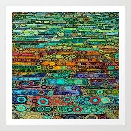 :: Technicolor Walkway :: Art Print
