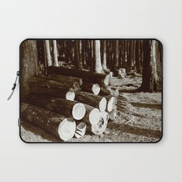 Stacked logs Laptop Sleeve