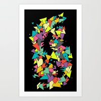 triangles Art Prints featuring Triangles  by AtomicChild