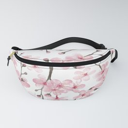 cherry blossom watercolor Fanny Pack