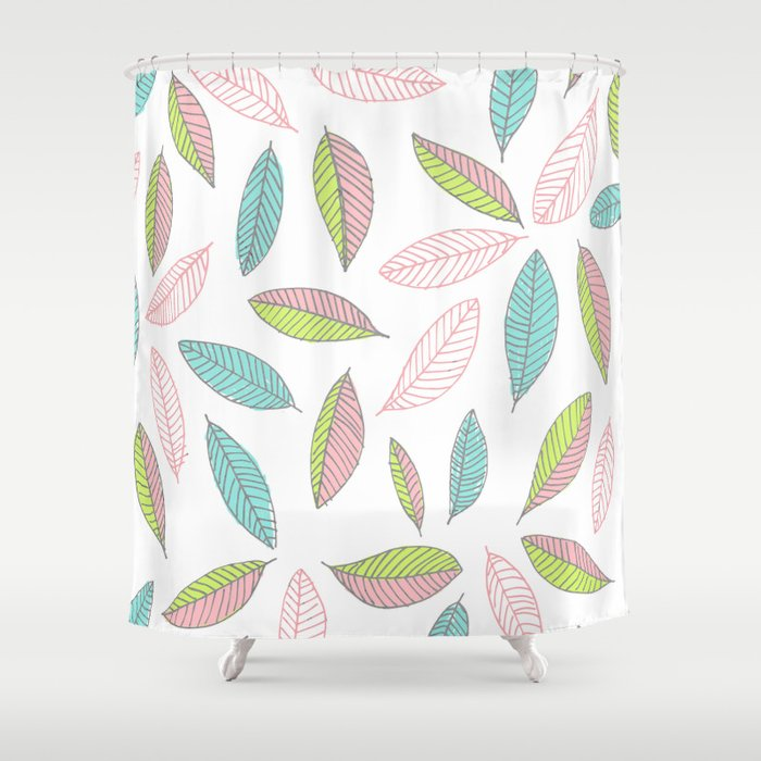 Bright Falling Leaves Shower Curtain by maggieedkins | Society6