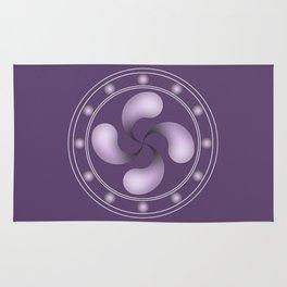 LAUBURU IN PURPLE (abstract geometric symbol) Rug