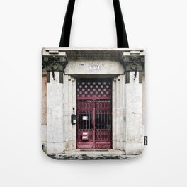 Ruby Red Budapest Door Tote Bag