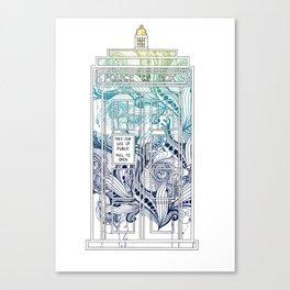 Mandala police box Canvas Print