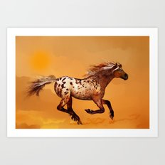 HORSE - An Appaloosa called Ginger Art Print