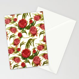 Eucalyptus Leaves and Protea Flowers Stationery Cards