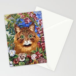 Louis Wain's Cats - Cat In the Garden Stationery Cards