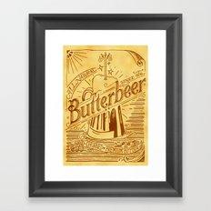 Butterbeer Framed Art Print
