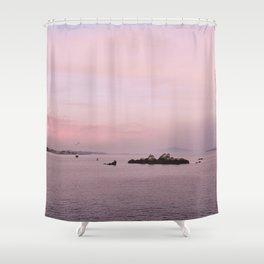 atardecer rosa, Galicia, Spain Shower Curtain