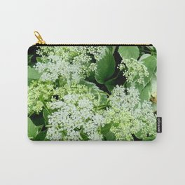 AWESOME DELICATE GREEN LACE FLOWERS Carry-All Pouch