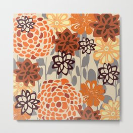 Spiced Floral Metal Print