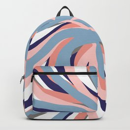 Geometric vane decor. abstract. colorful. blue. pink. white.  Backpack