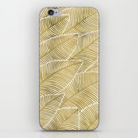 tropical iPhone & iPod Skins featuring Tropical Gold by Cat Coquillette