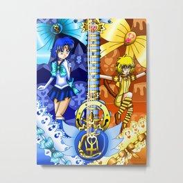 Sailor Mew Guitar #18 - Sailor Mercury & Mew Pudding Metal Print