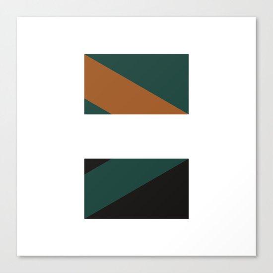 #244 Telepathy – Geometry Daily Canvas Print