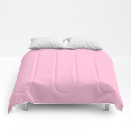 From The Crayon Box – Cotton Candy Pink - Pastel Pink Solid Color Comforters