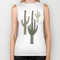 cactus Biker Tanks featuring Cactus by Hinterlund