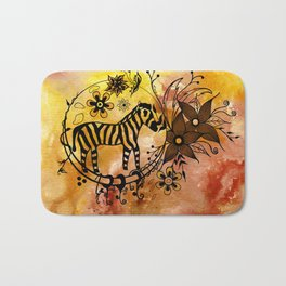 Abstract Acrylic Painting ZEBRA Bath Mat