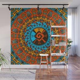 Colorful Hunab Ku Mayan symbol #7 Wall Mural