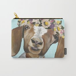 Flower Crown Goat, Cute Goat Carry-All Pouch