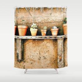 Clay Pots, Goleta California Shower Curtain