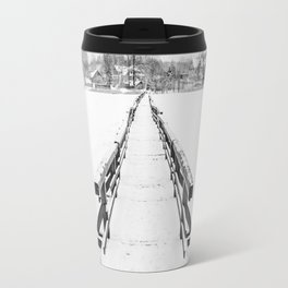Bridge in Winter Travel Mug