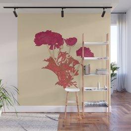 Ranunculus bunch - beige Wall Mural