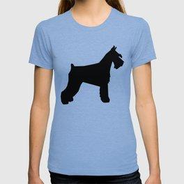 Schnauzer silhouette dog breeds custom dog lover t shirt minimal T-shirt