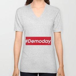 Demo Day #Demoday House Flipper Unisex V-Neck